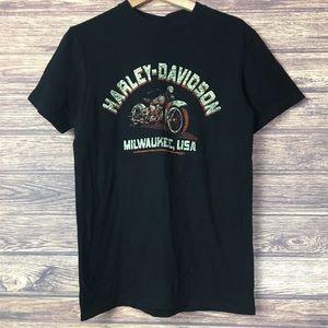 Harley Davidson men's short sleeved black t-shirt